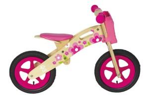 Bicicletta in legno senza pedali