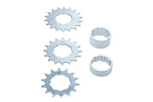 Set Pignoni 14/16/18 denti per biciclette per per single speed e fixed