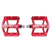 BRN KITE pedali Mtb flat 10 pins - rosso